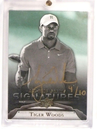 2012 Upper Deck All-Time Greats Tiger Woods autograph auto #D4/10 #GA-TW1 *46033