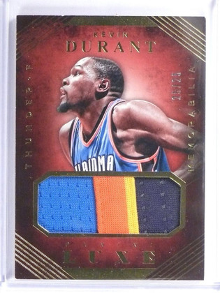 2015-16 Panini Luxe Kevin Durant 4 color patch #D25/25 #41 *55878