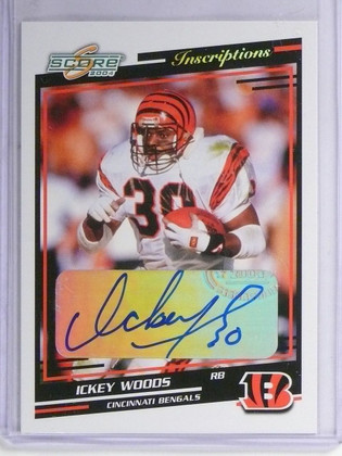 2004 Score Ickey Woods Inscriptions Autograph Auto #59 *57140
