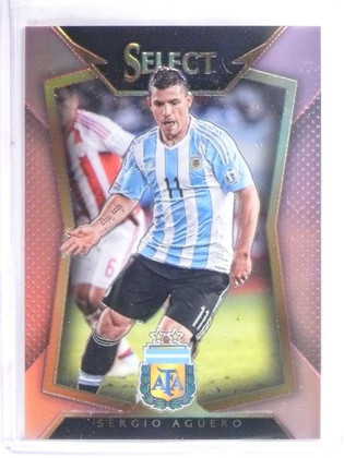 2015-16 Panini Select Soccer Pink Prizm Sergio Aguero #D13/20 #62 *57501