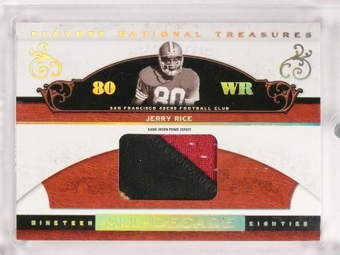 2006 National Treasures All-Decade Jerry Rice 2clr patch #D08/13 #AD-JR *50023