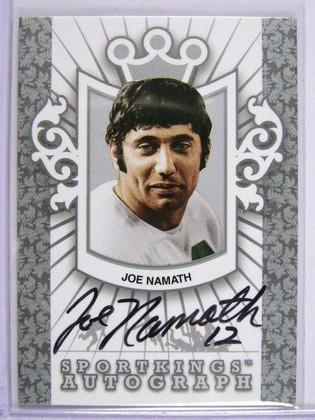 2009 Sportkings Joe Namath auto autograph Silver #A-JN2 *28815