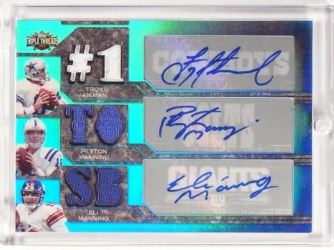 2008 Triple Threads Aikman Peyton & Eli Manning autograph jersey #D1/2 *49984
