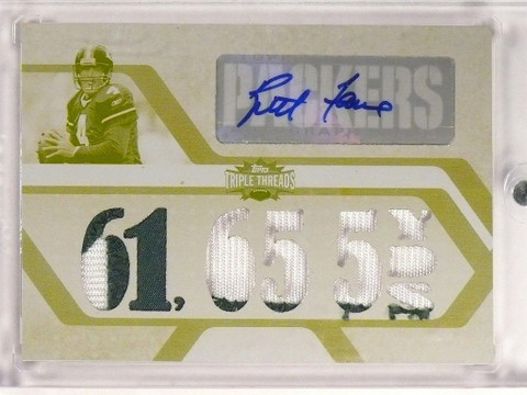 DELETE 9229 2008 Topps Triple Threads White Whale Brett Favre autograph patch #D 1/1 *50006