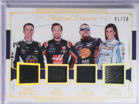 2016 National Treasures Danica Stewart Busch Harvick Quad Relic #D01/10 *65249