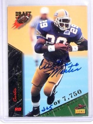 SOLD 5883 1995 Draft Signature Rookies Curtis Martin RC Autograph #D265/7750 #49 *56657