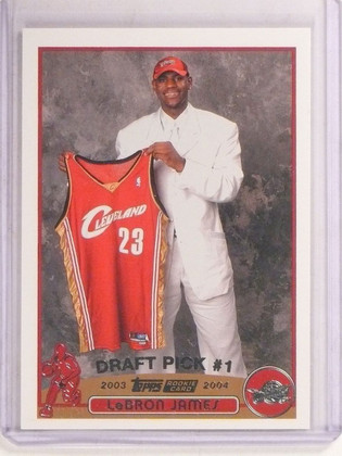SOLD 9461 2003-04 Topps Lebron James rc rookie #221 Cavs *67413