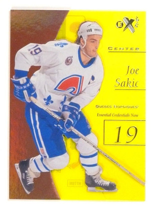 2012-14 Fleer Retro E-X EX Joe Sakic Credentials Now #D20/38 #38 *53234