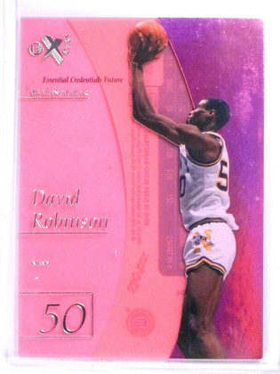 2012-13 Fleer Retro E-X David Robinson Credentials Future #D13/38 #EX5 *56952