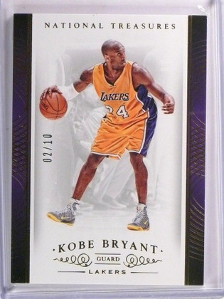 14-15 Panini National Treasures Gold parallel Kobe Bryant #D02/10 #12 *53543