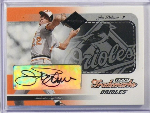 2003 Leaf Limited Team Trademarks Jim Palmer auto autograph #D20/25 #TT-3 *41011