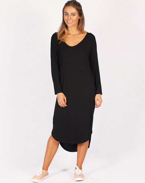 Freez Jersey Dress Black