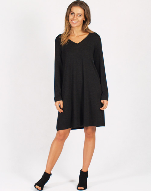 Freez Knit Dress Black