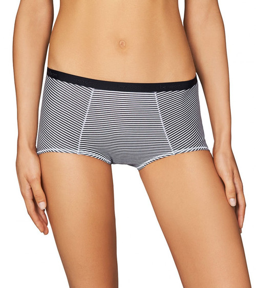 Bendon Body Cotton Trouser Brief Black White Stripe