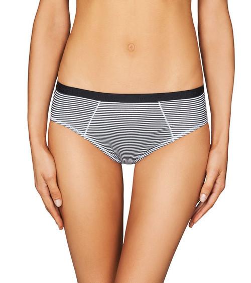 Bendon Body Cotton Hikini Brief Black White Stripe