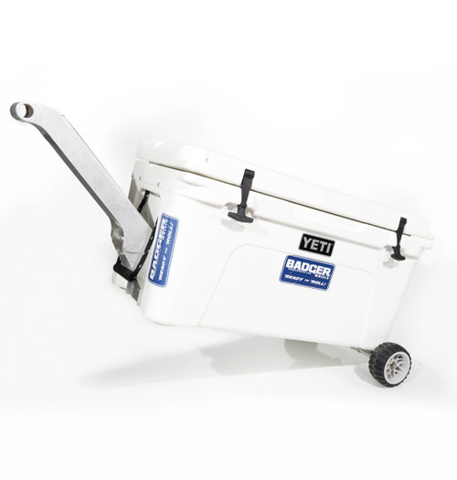 Badger Handle on Tundra 65 Qt with Badger Wheels Axle - Small Wheels
