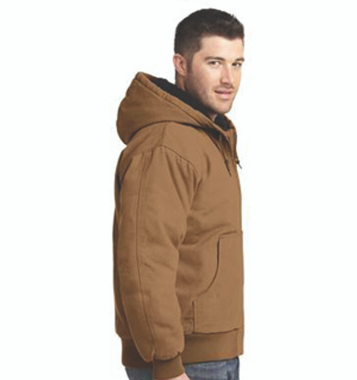 CSJ41: Washed Duck Cloth Insulated Hooded Work Jacket by CornerStone.