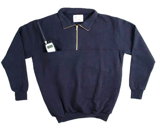 8025-T: Responder 1/4 Zip Job Shirt with Soft Collar by Game.