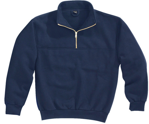 644-React-Navy 1/4 Zip Job Shirt with Soft Collar by Tri-Mountain