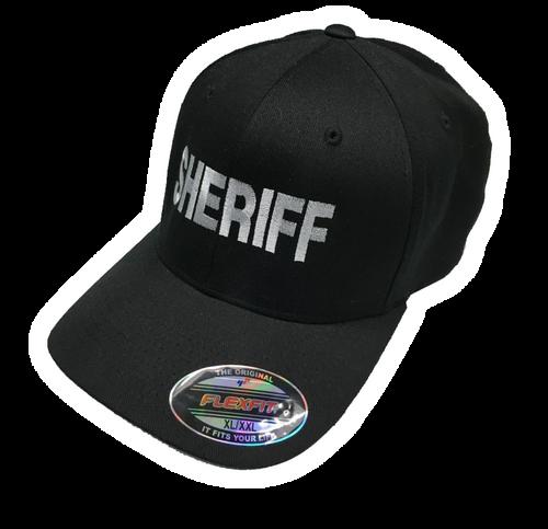 """""""Sheriff"""" in Teardrop Grey on Black"""
