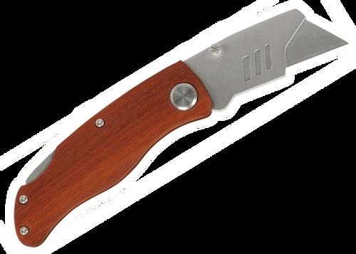 "Knf-Sgl-4-Utl - 4"" Wood Handle Utility Knife"