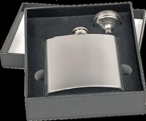 FSK671-75 - 6 oz. Flask Set in Black Presentation Box