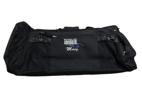 AQ-9013: Rolling Embroidered Duffel Bag by Nissin