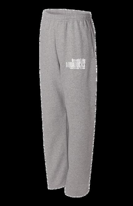 AQ-974MPR:  NuBlend Open Bottom Pocketed Sweatpants by Jerzees