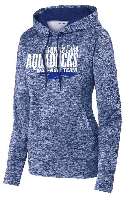 AQ-LST225: Ladies PosiCharge Electric Heather Fleece Hooded Pullover by Sport-Tek
