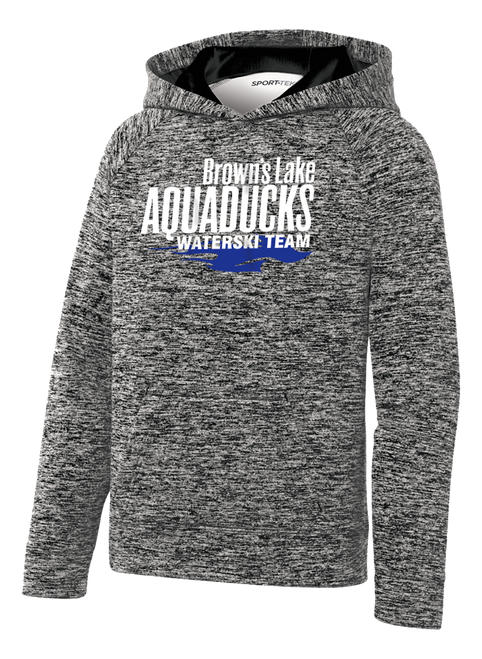 AQ-YST225: Youth PosiCharge Electric Heather Fleece Hooded Pullover by Sport-Tek