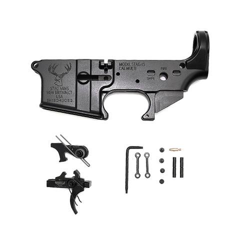 Stripped Lower Receiver w/ Geissele Super 3 Gun Trigger & Anti-Walk Pins