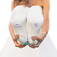 Mis Quince Shoe Stickers for Quinceanera Shoes - Lavender