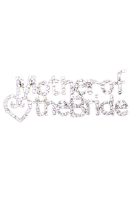 Sparkling Rhinestone Mother of the Bride Brooch