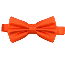 Orange Luxury Matte Satin Bow Tie with Adjustable Clasp