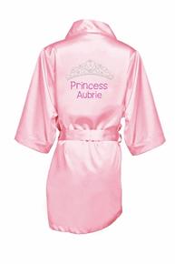 Personalized Rhinestone Princess Robe for Girls