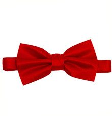 Red Luxury Matte Satin Bow Tie with Adjustable Clasp