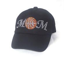 Rhinestone Basketball Mom Cap