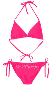 Personalized Rhinestone Mrs. ____ Bikini