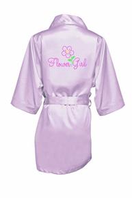 Pretty Posie Rhinestone Flower Girl Satin Robe