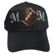 Rhinestone Football Mom Cap