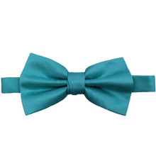Teal Luxury Matte Satin Bow Tie with Adjustable Clasp