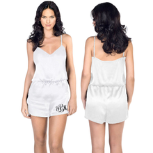 Monogrammed Satin Rompers and Jumpsuits for Women