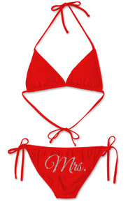 Glitter Print Mrs. Bikini