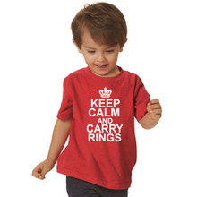 Keep Calm and Carry Rings T-Shirt for Ring Bearer