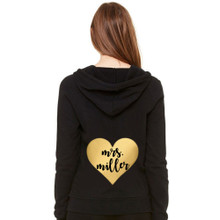 Personalized Metallic Heart Hoodie