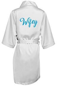 Glitter Print Wifey Robe