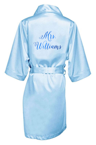 Personalized Mrs. Robe with Meatllic Print
