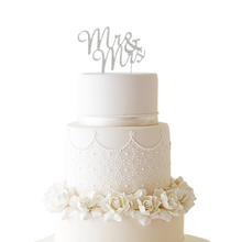 Rhinestone Mr & Mrs Cake Topper