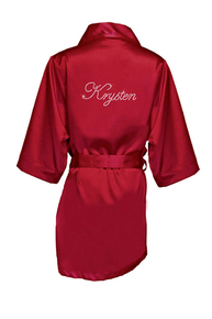 Personalized Girl's Satin Robe in Script Font