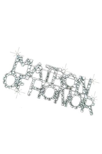 Rhinestone Matron of Honor Brooch Pin